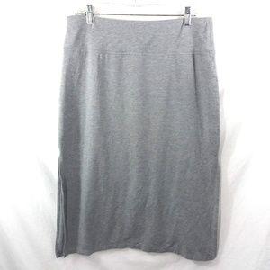 Athleta Oceana Midi Skirt Gray Size Large Stretch